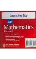 Student One Stop Holt Mathematics, Course 1