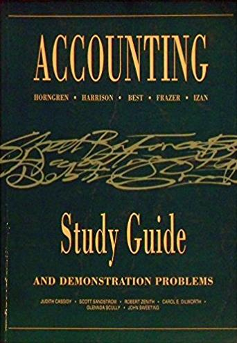 Accounting Study Guide and Demonstration Problems
