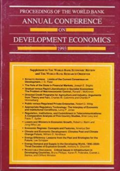 Proceedings of the World Bank Annual Conference on Development Economics, 1 ...